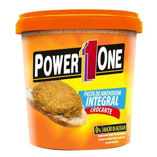 pasta de amendoim 1,005kg - power 1 one + brinde - promoção