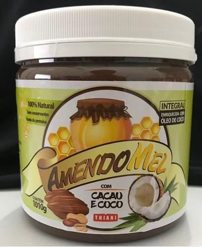 pasta de amendoim amendomel 1kg thiani todos os sabores