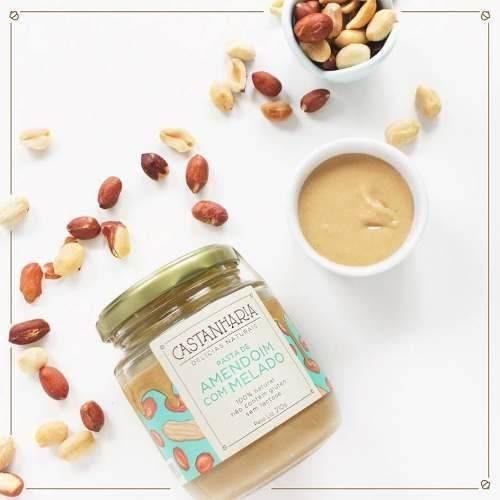 pasta de amendoim com melado 210gr