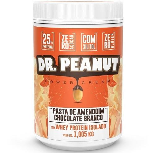 pasta de amendoim dr peanut c/ whey isolado chocolate b ou p