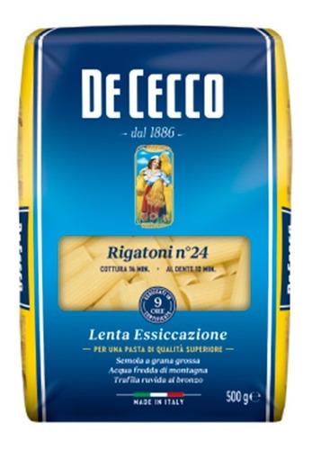 pasta de cecco rigatoni importada italia