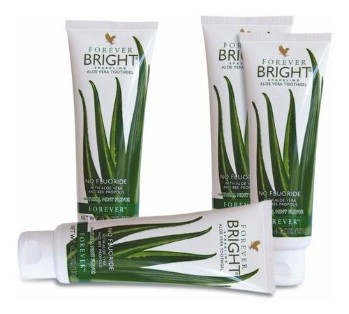 pasta de dente forever bright babosa aloe vera! kit 04 unid.