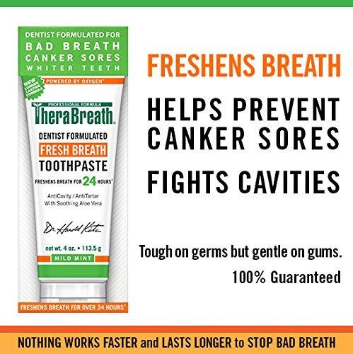 pasta de dientes therabreath fresh breath 4 oz (paquete de 2