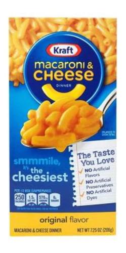 pasta de macarrones kraft con salsa sabor queso 206 g