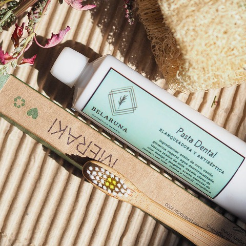 pasta dental 120gr en pomo, belaruna cosmética natural