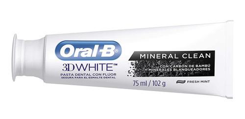 pasta dental blanqueadora oral b 3d white mineral clean 75ml