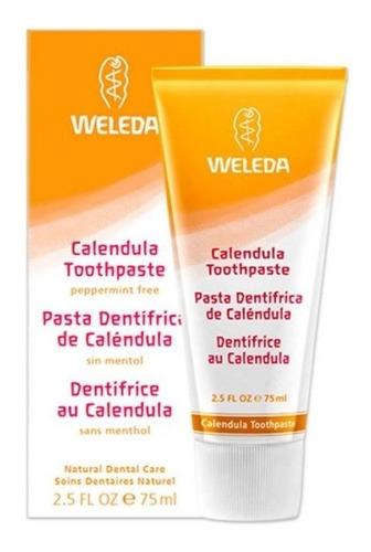 pasta dentífrica weleda caléndula sin mentol vegano celiaco