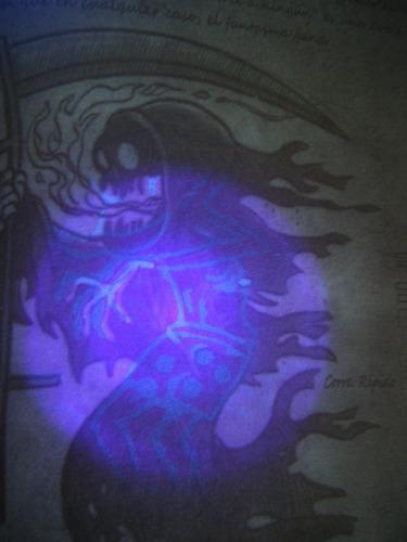 pasta dura diario 3 gravity falls tinta invisible + luz uv