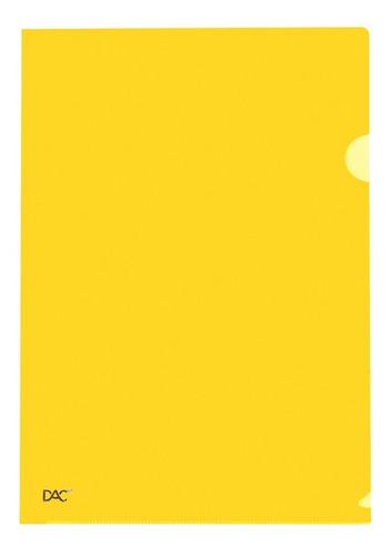 pasta em l a4 new line amarela pct c/10 und. dac