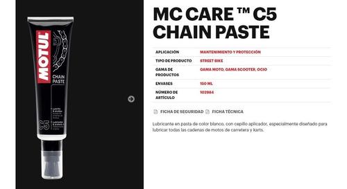 pasta lubricante cadena moto motul chain paste c5 mileban