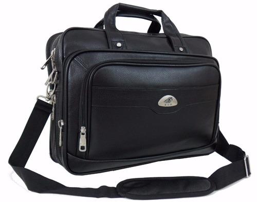 pasta maleta bolsa executiva couro ecológico notebook 15,6