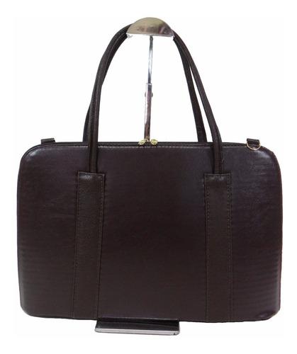 pasta maleta bolsa notebook 14.0' couro sintético feminina