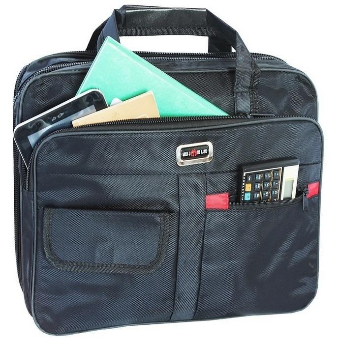 64f3babfa Pasta Mão Notebook Preta Executiva Social Resistente Agua - R$ 58,44 ...