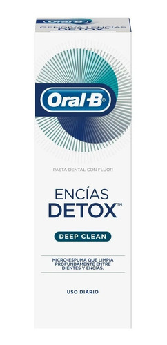pasta oral-b encias detox deep clean 75ml