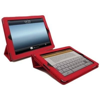 pasta p/ ipad c/apoio reclinavel vermelha enzsuntw-a1red