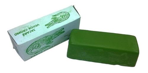 pasta para afiar e dar brilho em metais verde e azul jacare