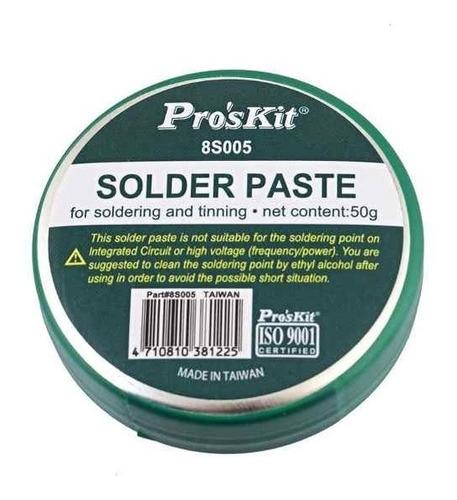 pasta para soldar gel estaño 50g proskit 8s005  s/plomo