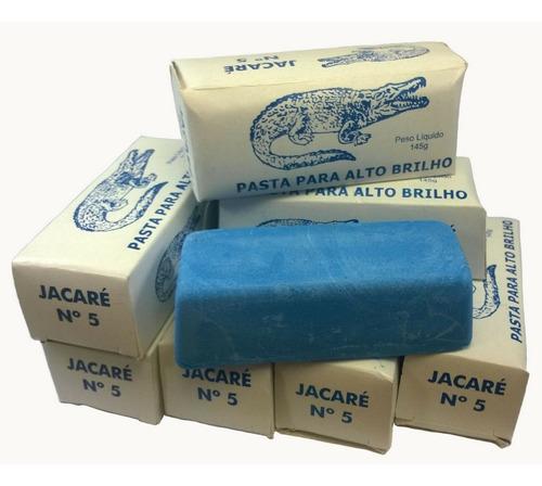 pasta polimento alto brilho em metais azul jacare 145gr 6 un