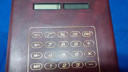 pasta porta cartões 24 espaços calculadora estragada r$ 28,0