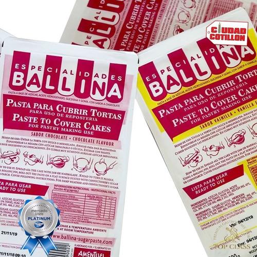 pasta p/torta500g ballina choc/vai - ciudad cotillón envíos