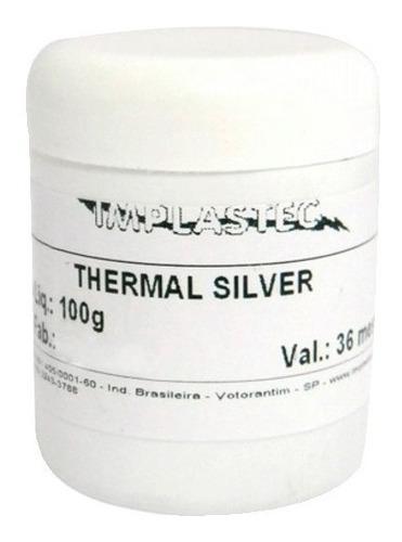 pasta térmica 100g thermal silver implastec
