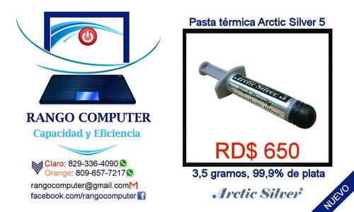 pasta térmica artic silver 5 procesador, cpu, tarjeta video