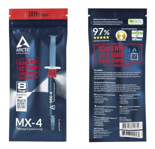 pasta termica disipadora arctic mx-4 4g 2019 envio gratis