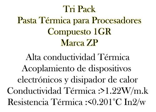 pasta termica disipadora de calor gris jeringa tripack bagc