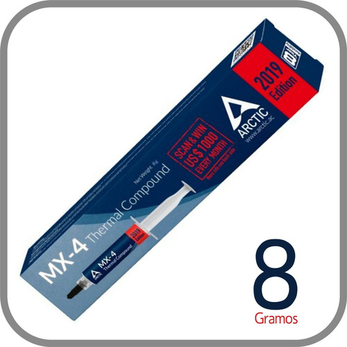 pasta termica mx4 8 gramos, edicion 2019