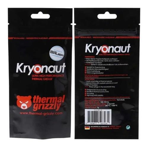 pasta termica thermal grizzly kryonaut cpu gpu ps4 xbox - 1g