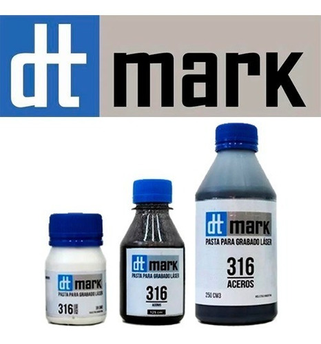 pasta tinta dtmark 125cc grabado láser metales envío rápido