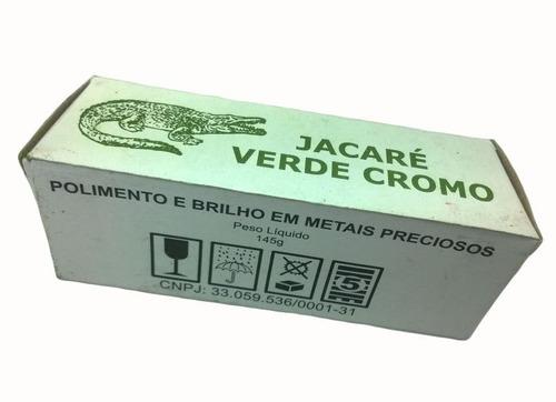 pasta verde cromo jacare 145 gr massa de polimento lote 6 un