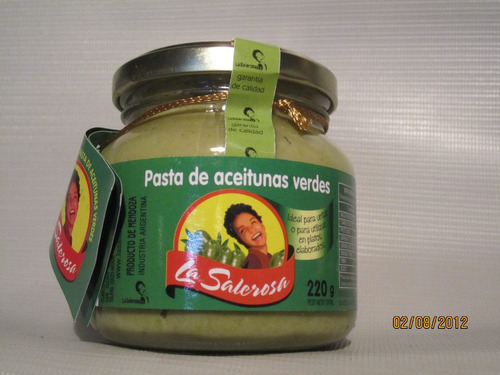 pastas de aceitunas verde y negras x 220 gr venta x mayor