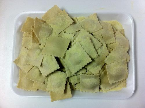 pastas frescas  rellenas, de sémola  de trigo  durum y huevo