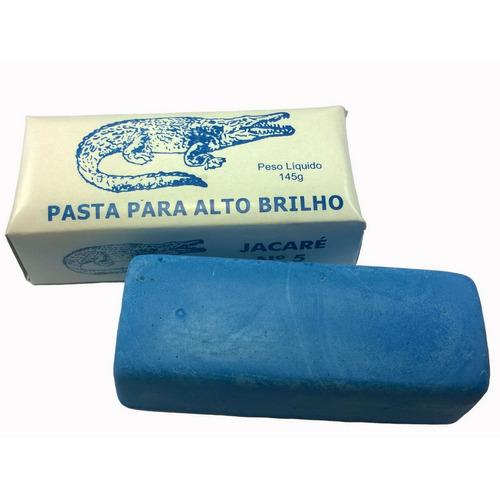 pastas para polimento e brilho em aluminio branca e azul