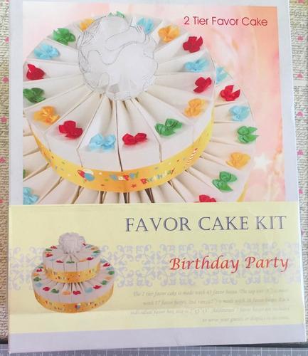 pastel de cajitas para dulces cumpleaños
