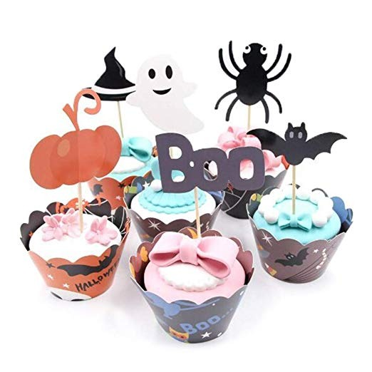Pastel De Halloween Decoración De Halloween 24pcs Envoltura