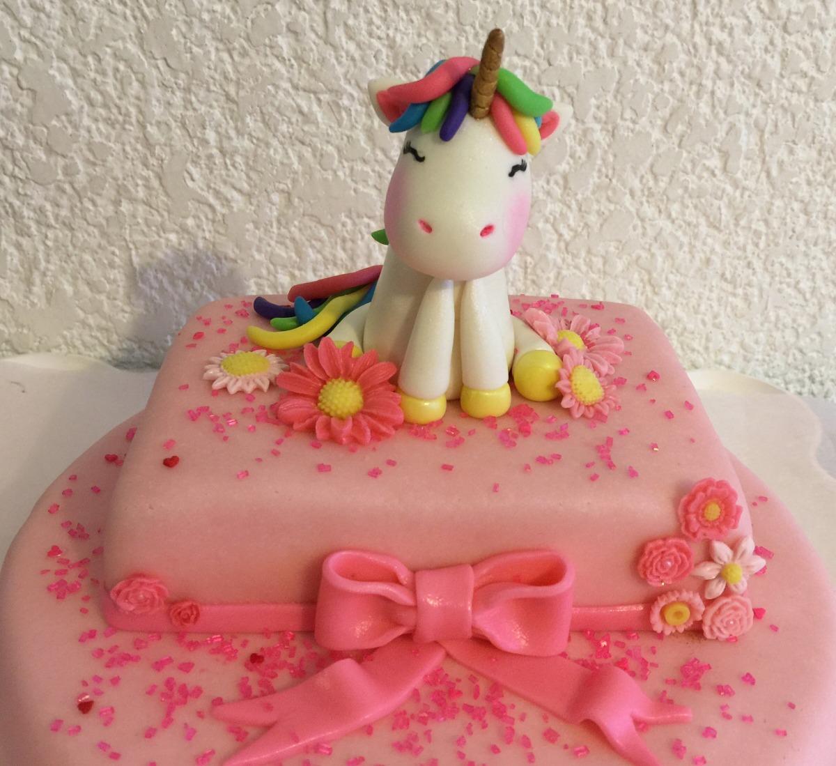 Pastel Decorado Con Fondant Unicornio 1000 En Mercado Libre - Fotos-de-pasteles-decorados