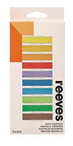 pastel seco desenho reeves giz conjunto com 12 cores