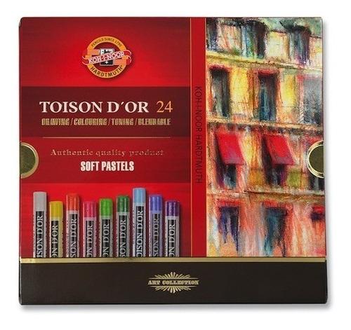 pastel toison d´or x 24 caja pasteles oleo dor tiza