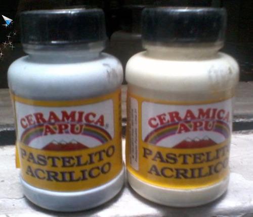 pastelito acrilico - ceramica apu 100 ml. (45 unidades)