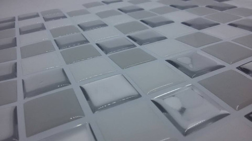 pastilha adesiva resinada m milan branco,prata kit 6 placas