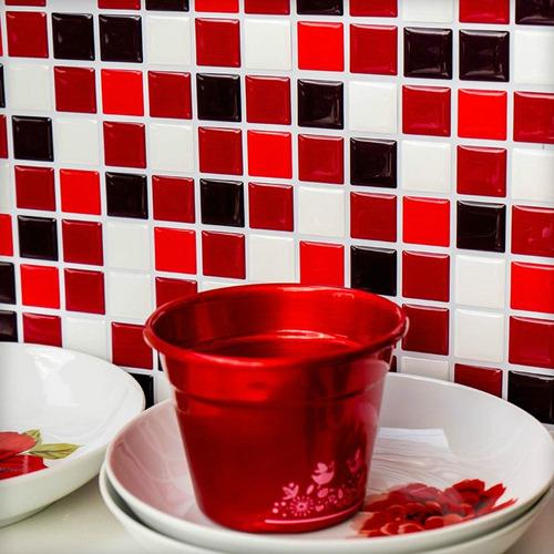 pastilha adesiva resinada misc.vermelho kit 4 placas p146clb