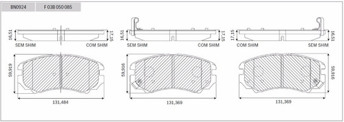 pastilha bosch cerâmica dianteira hyundai sonata 3.3v6 06/10