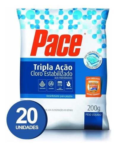 pastilha de cloro para piscinas pace 3 em 1 - 20 unidades