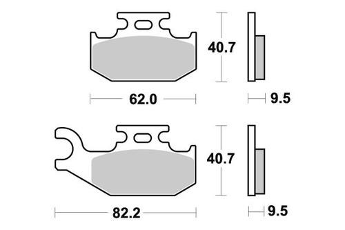 pastilha de freio can am 650 outlander max std / xt / std