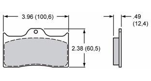 pastilha de freio competição para pinças wilwood