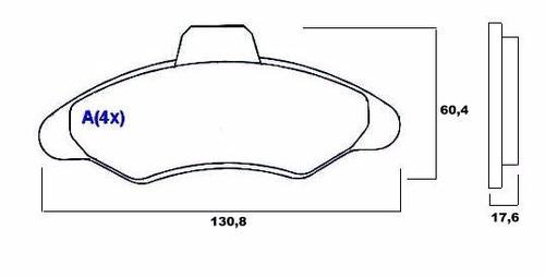 pastilha de freio diant. escort / verona  1.6/1.8  syl 1145