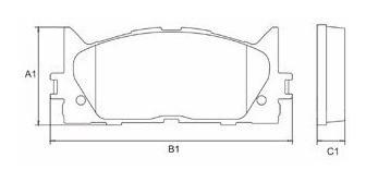 pastilha de freio dianteira camry 3.5 07/...  frasle pd1078