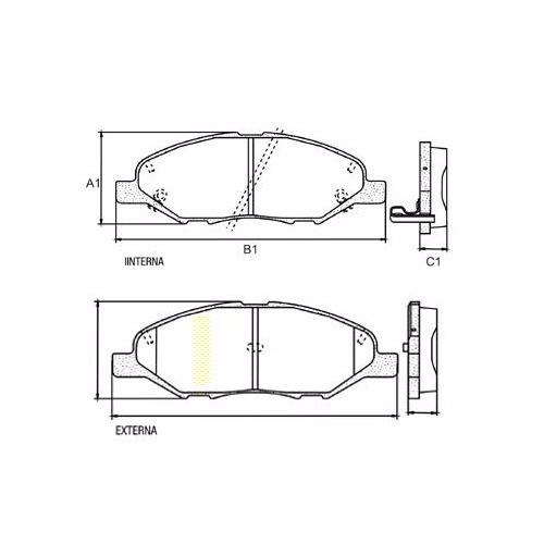 pastilha de freio dianteira nissan livina  bendix hq-2247a